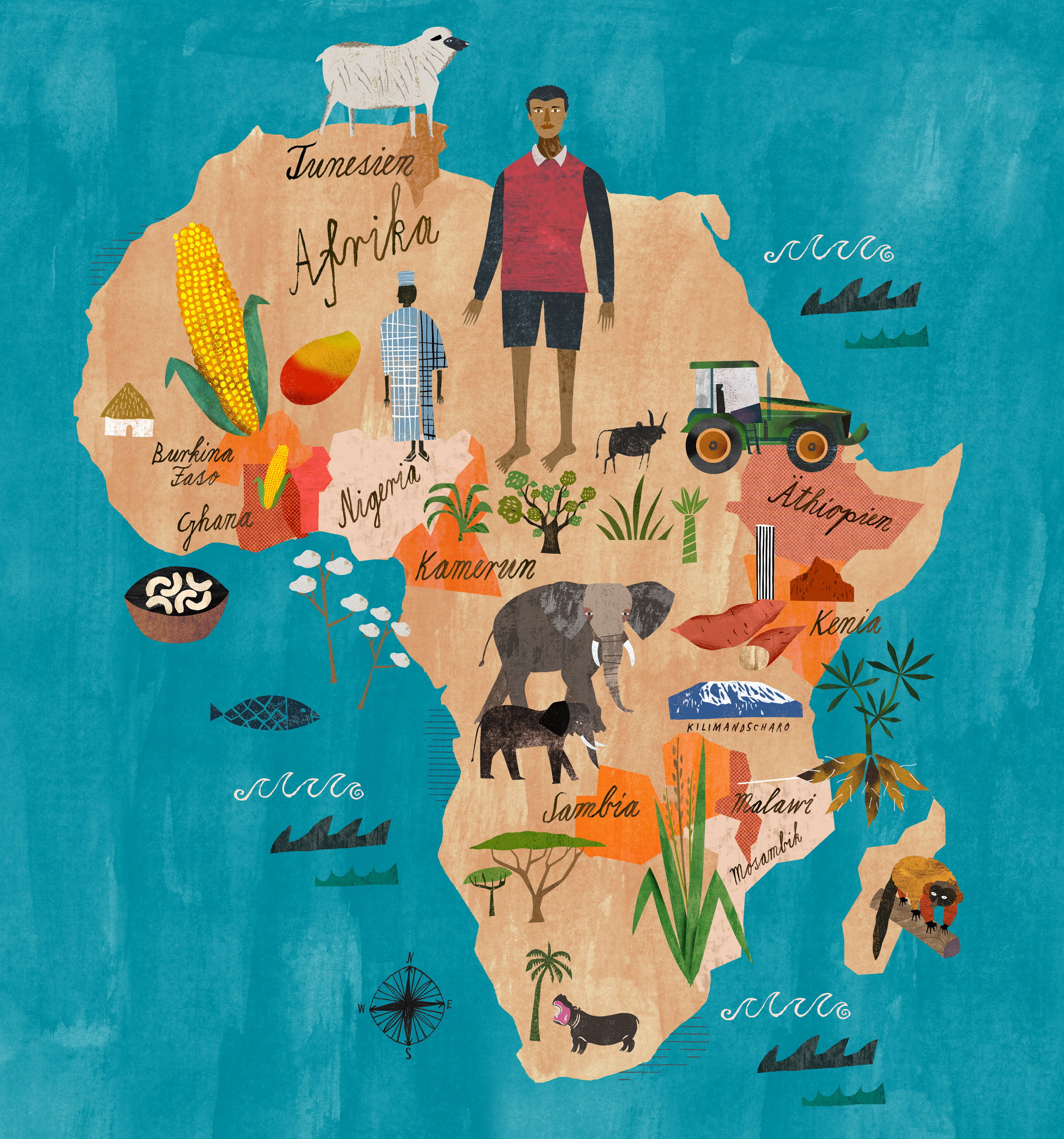 map of Africa for BMZ/Bunte – Martin Haake Illustrations